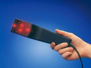 Laserlicht des Laser-Kamms
