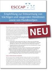 ESCCAP-Flyer: Entwurmung Hündin | Tierarztpraxis-Hanau.de