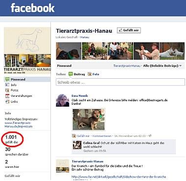 1001 FB-Fans | Tierarztpraxis-Hanau.de