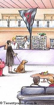 So stellt sich der Künstler die neue Praxis vor  | Tierarztpraxis-Hanau.de