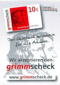 Der neue GrimmScheck der Stadt Hanau