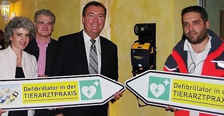 Ein Defibrillator in der Tierarztpraxis-Hanau.de