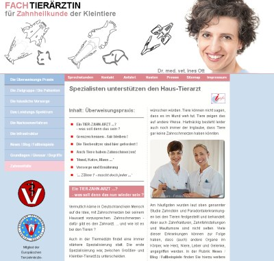 neue WebSite www.FachTierarzt-Zahnheilkunde.de